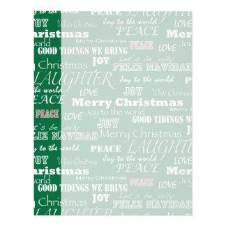 Christmas Sayings Typography Letterhead