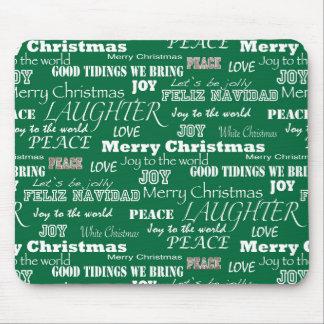 Christmas Sayings Typography Mouse Pad