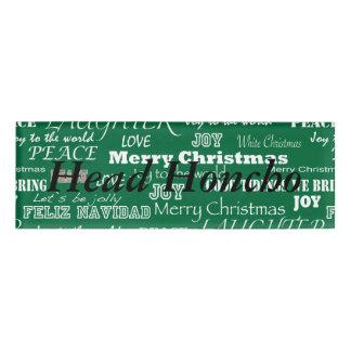 Christmas Sayings Typography Name Tag