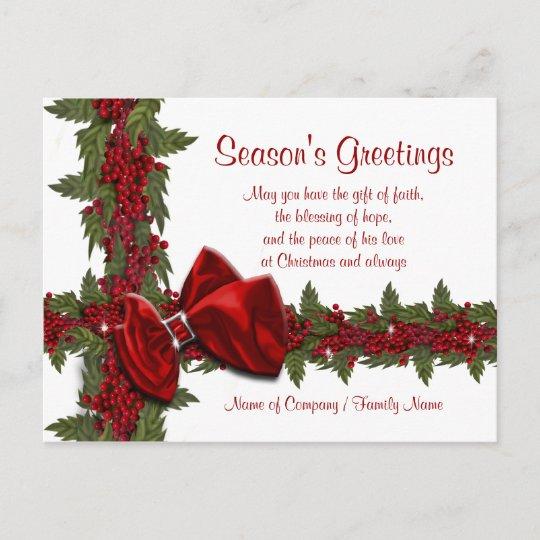 Christmas Sayings.Christmas Sayings Xmas Corporate Thanks Holiday Postcard