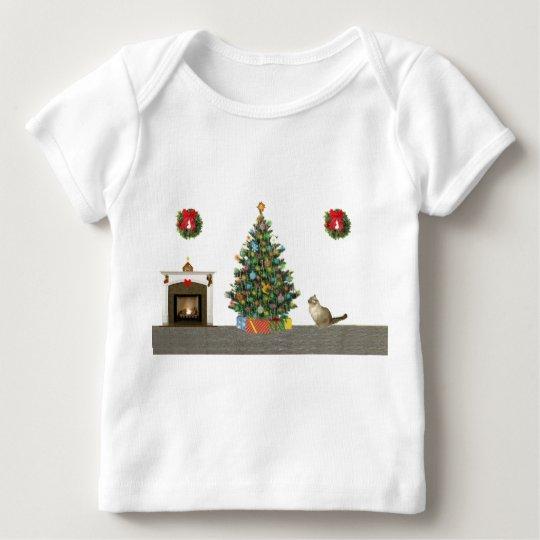 Christmas scene baby T-Shirt
