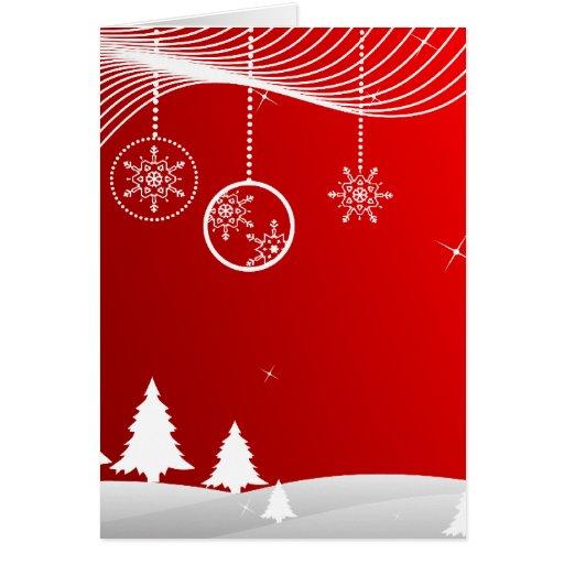 Christmas Scene Greeting Card