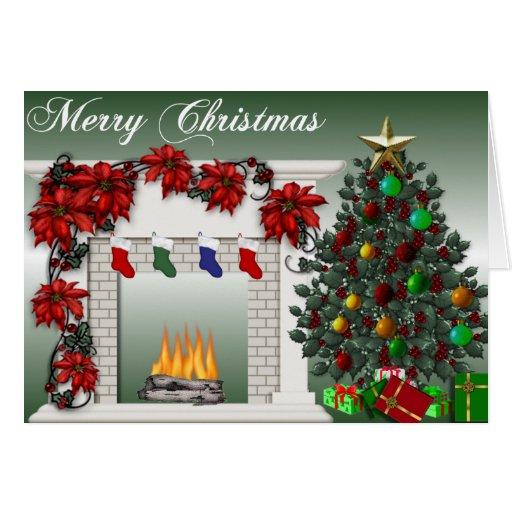 Christmas scene greeting cards