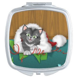 Christmas Scene Holiday compact mirror Vanity Mirrors