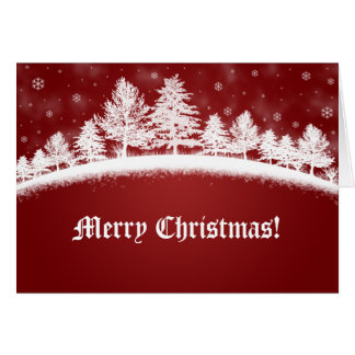 Christmas Scene Holiday Scenic Winter North Pole Card