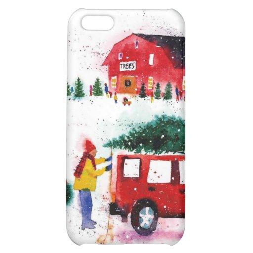 Christmas Scene iPhone 5C Covers