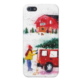 Christmas Scene iPhone SE/5/5s Case