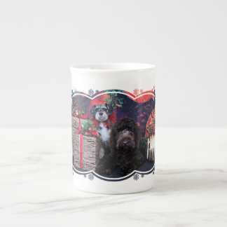 Christmas - Schnauzer Apache - Bowen LabraDoodle Tea Cup