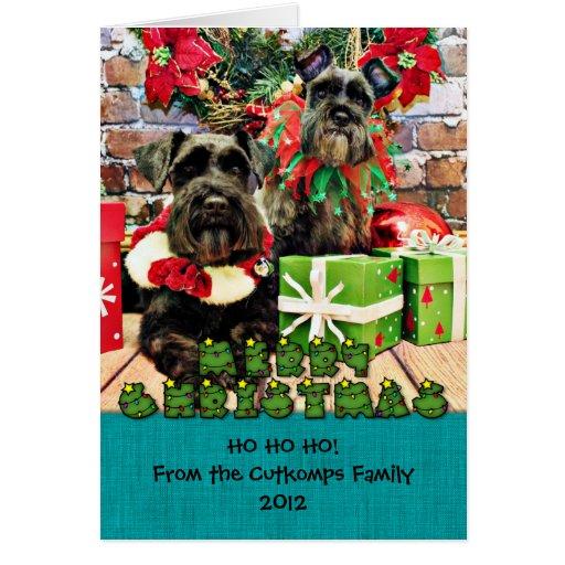 Christmas - Schnauzer - Fergie and Fenway Card