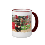 Christmas - Schnauzer - Fergie and Fenway Coffee Mugs