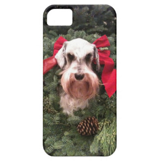 Christmas Schnauzer - iphone cover iPhone 5 Cases