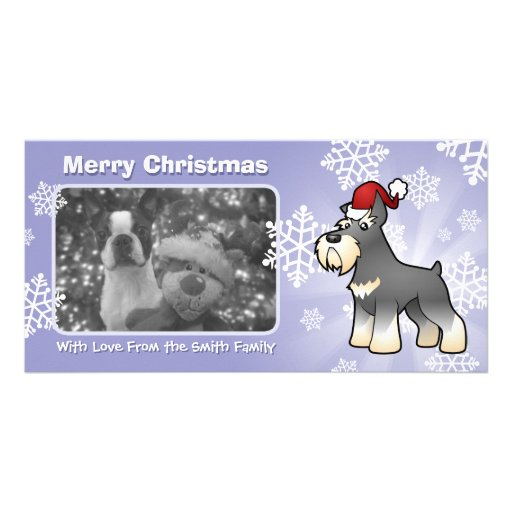 Christmas Schnauzer Picture Card