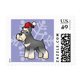 Christmas Schnauzer Postage