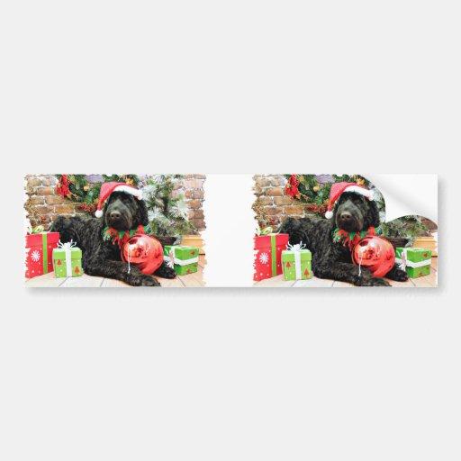 Christmas - Schnoodle - Zeus Bumper Stickers