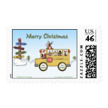 Christmas School Bus Postage