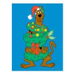 Christmas Scooby Postcard