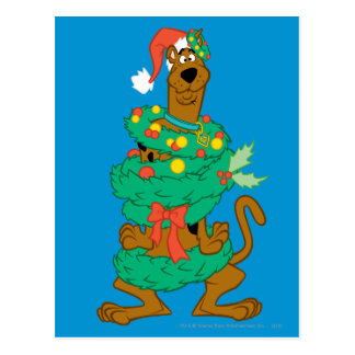 Christmas Scooby Postcard
