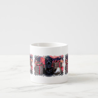 Christmas - Scottie - Paisley Espresso Cup
