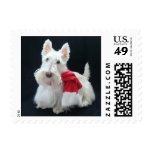 Christmas Scottie Postage Stamps
