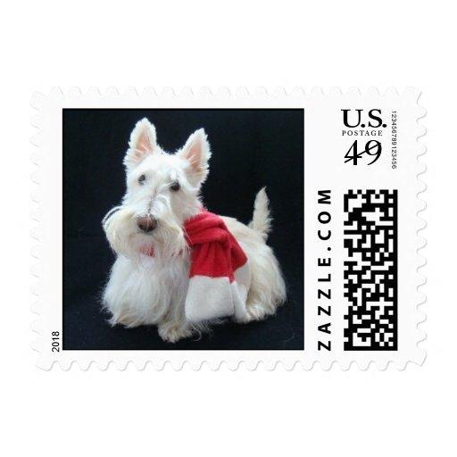 Christmas Scottie Stamps