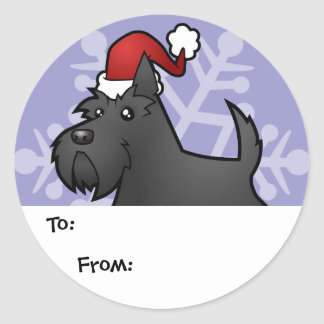 Christmas Scottish Terrier Gift Tags