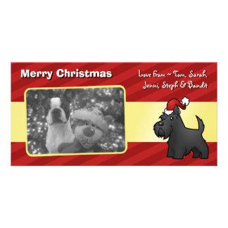 Christmas Scottish Terrier Custom Photo Card