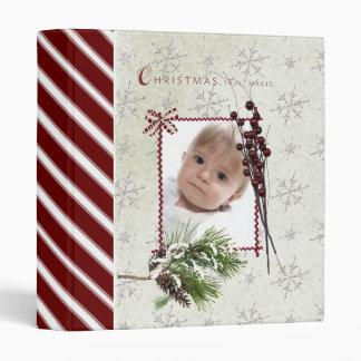 christmas scrapbook/ photo album. 3 ring binder