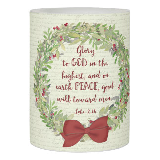 Christmas Scripture - Glory to God Flameless Candle