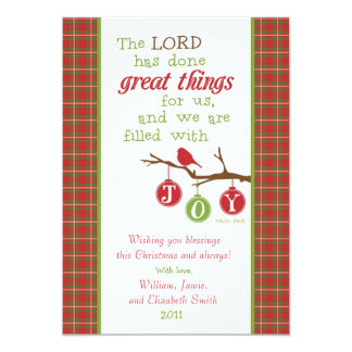 Christmas Scripture Verse Card-Filled with Joy Card