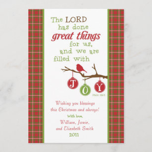 christmas scripture verse card filled with joy holiday card - Christmas Scripture For Cards