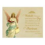Christmas Scripture Vintage Reproduction Postcard