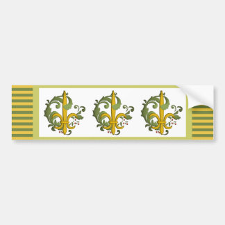 Christmas Scroll Fleur de lis Bumper Sticker