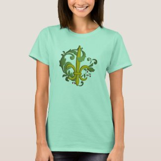 Christmas Scroll Fleur de lis - Customized T-Shirt
