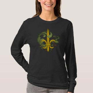 Christmas Scroll Fleur de lis T-Shirt