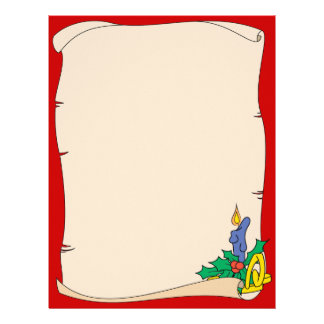 Christmas Scroll Letterhead