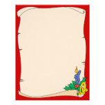 Christmas Scroll Letterhead Customized Letterhead
