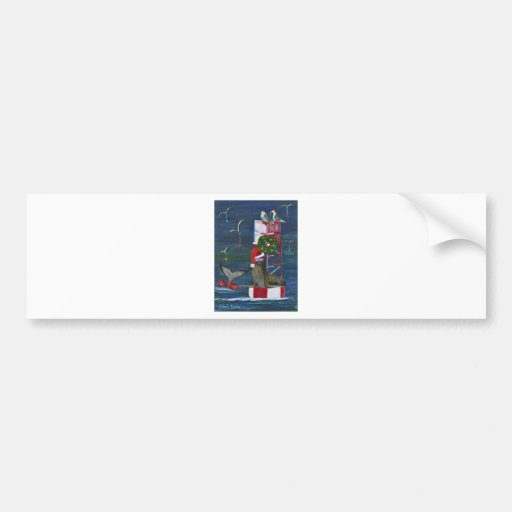 Christmas Seal and Friends.jpg Bumper Stickers