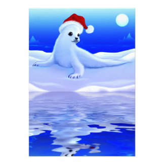 Christmas Seal Baby Card