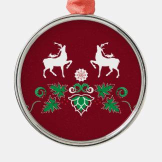 Christmas seamless pattern metal ornament