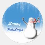 Christmas Season Design Envelope Seals Classic Round Sticker