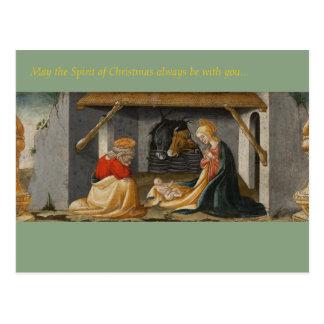 Christmas Season Postcard - Nativity