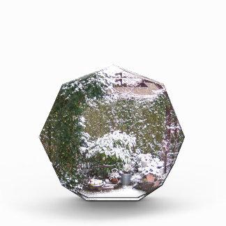 Christmas Season, Snow in the garden Acrylic Award