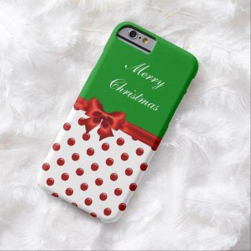 Christmas Themed Christmas Seasonal Barely There iPhone 6 Case