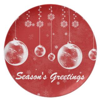 Christmas Season's Greetings Blub Plate
