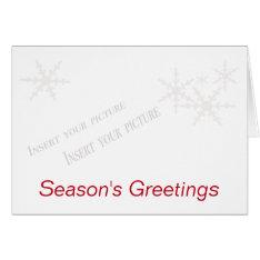 Christmas Season's Greetings Card at Zazzle