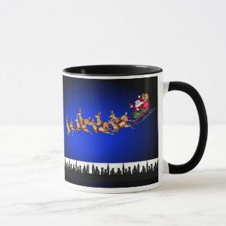 Christmas Seasons Greetings Happy Holidays Santa Mug