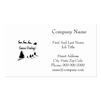 Christmas Season's Greetings Santa Double-Sided Standard Business Cards (Pack Of 100)