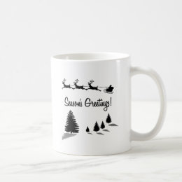Christmas Season's Greetings Santa Coffee Mug
