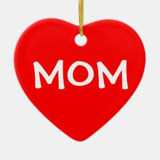 Christmas Selfish Mom Double-Sided Heart Ceramic Christmas Ornament
