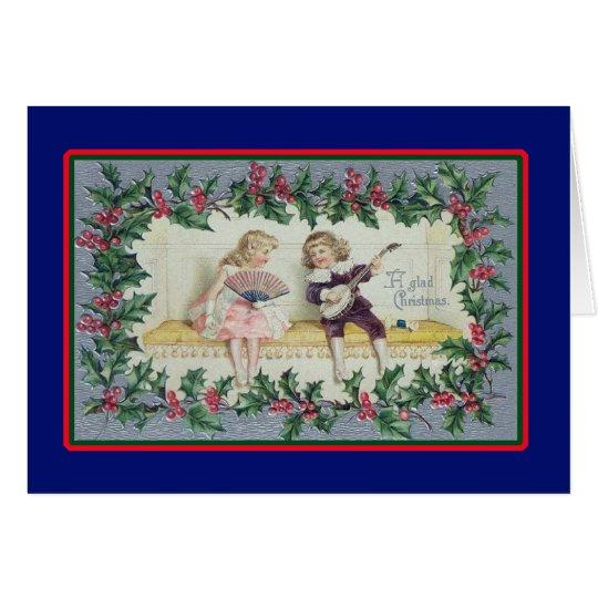 Christmas Serenade - Vintage Card